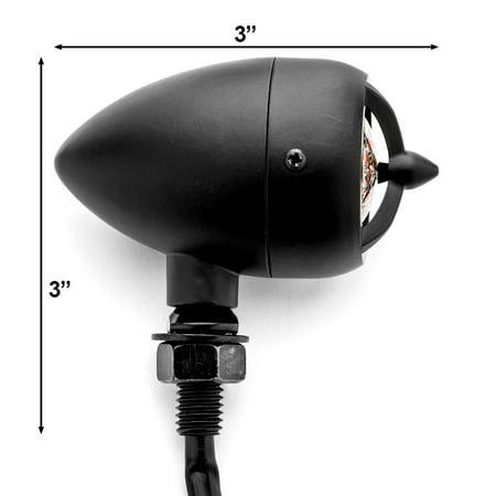 Krator 2pcs Black Heavy Duty Motorcycle Turn Signals Warplane Propeller Engine Blinkers For Vespa GTS GTV 250 300 - image 3 of 5