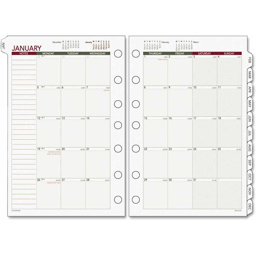 AT-A-GLANCE Day Runner Monthly Planning Pages, 8 1/2 x 11, 2017
