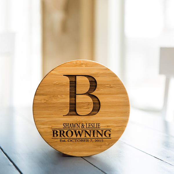 Personalized Bamboo Trivets Browning