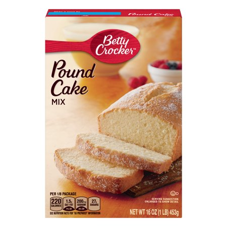 (2 pack) Betty Crocker Pound Cake Mix, 16 oz Box