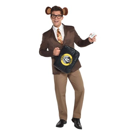 Monkey Business Mens Adult Funny Sales Man Costume Accessory Set