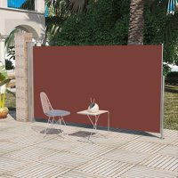 "Patio Retractable Side Awning 71""x118"" Brown"