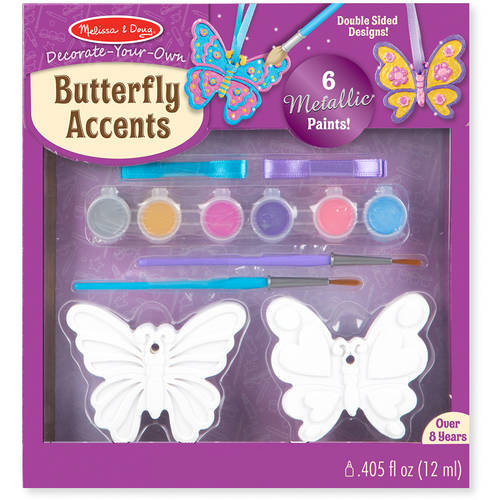 Melissa & Doug Decorate-Your-Own Butterfly Accents Craft Kit