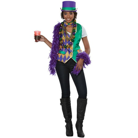Mardi Gras Woman Adult Costume - Lunch Lady Costume