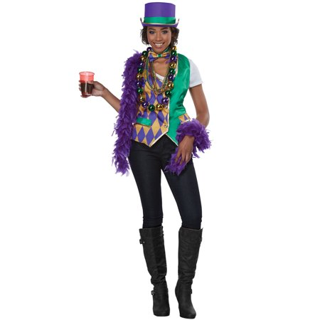 Mardi Gras Woman Adult Costume Kit - Last Minute Costume Ideas Women
