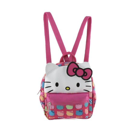 Hello Kitty Bag Pack (Licensed Leather Hello Kitty Style X-Small 2-in-1 Cross-body bag/ Mini)