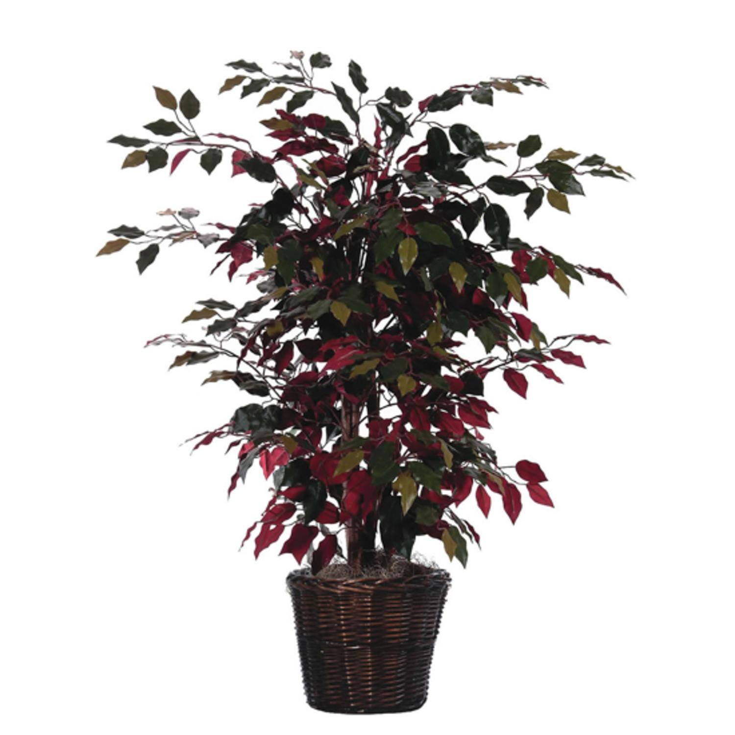 3' Artificial Potted Natural Red Capensia Bush - Unlit