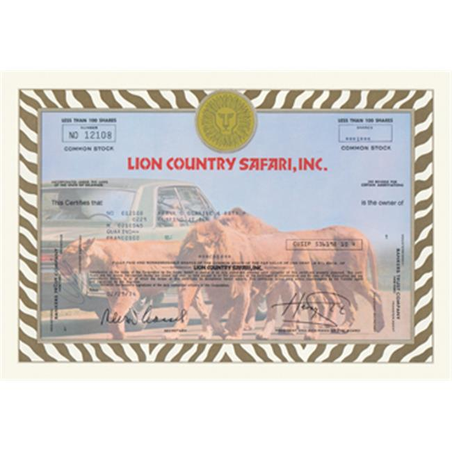 Buy Enlarge 0-587-00312-xP20x30 Lion Country Safari  Inc. - Paper Size P20x30