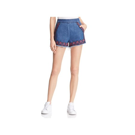 - Blank NYC Womens Hi-Rise Denim Cutoff Shorts