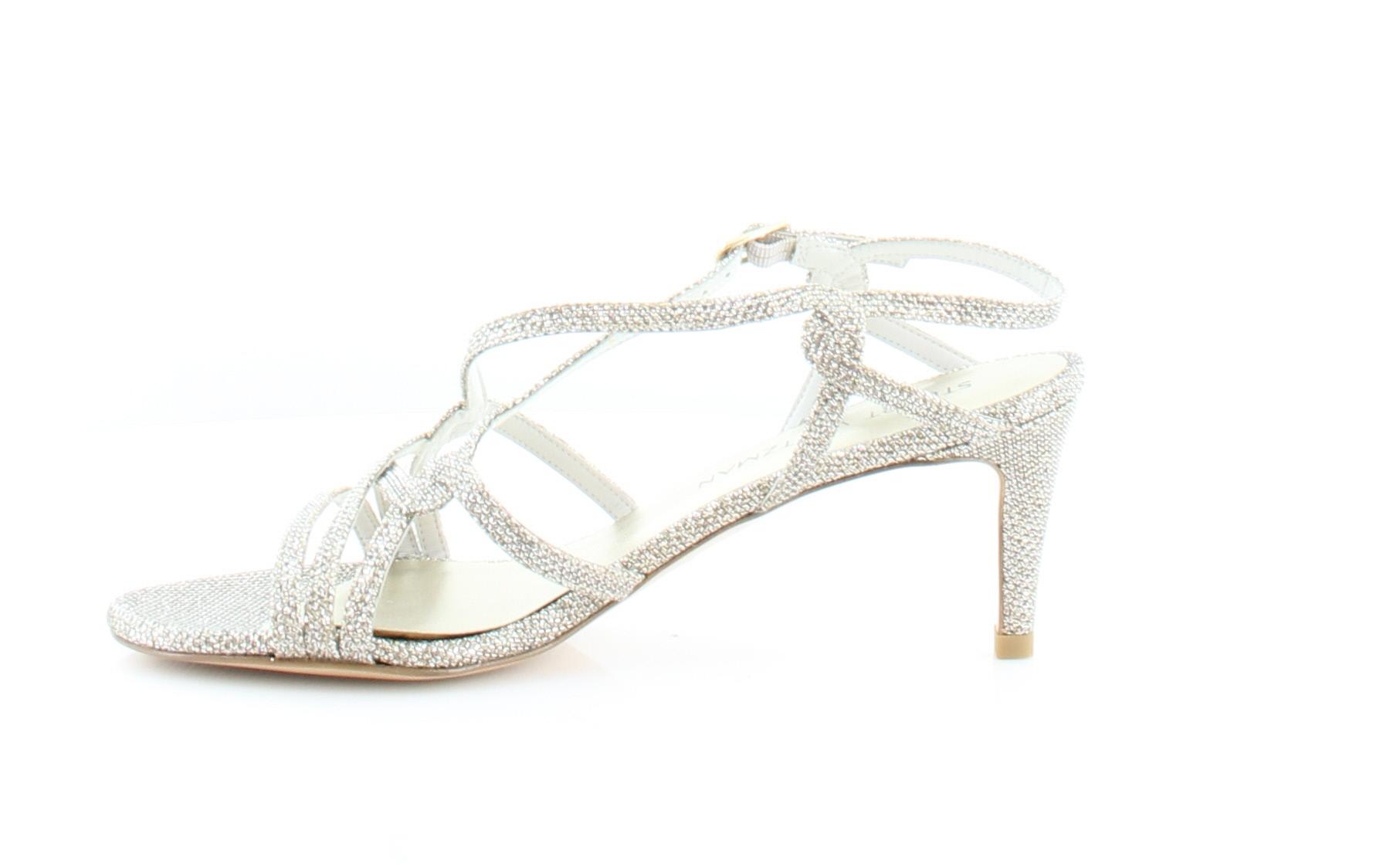 Stuart Weitzman On My Way Women's Sandals & Flip Flops Platinum Size 7.5 M