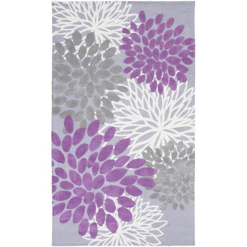 Ebern Designs Odele Lavender/Gray Area Rug