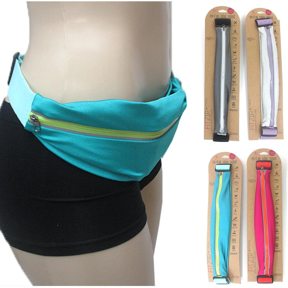 1 Sport Runner Zipper Fanny Pack Belly Waist Belt Bum Bag Running Belt Zip Pouch