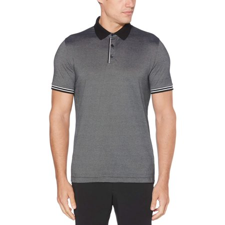 Perry Ellis Essential End on End Polo Cotton Herringbone Polo