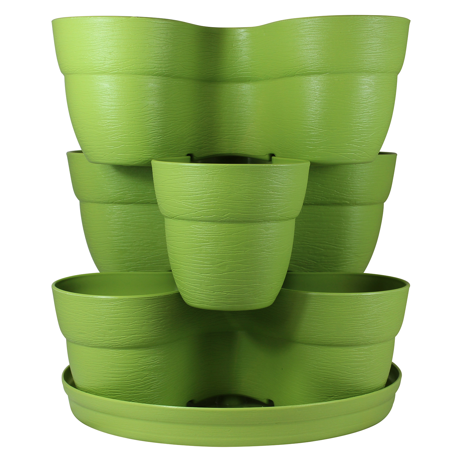 Bloomers Stackable Flower Tower Planter – Holds up to 9 Plants – Great Both Indoors and Outdoors – Sage Green