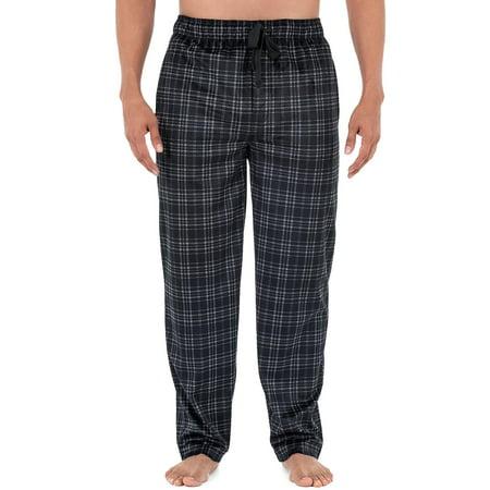 Izod Men's Micro Fleece Pajama Pant in Black, Size Medium