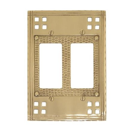 Double Gfci Solid Brass - Brass Accents M05-S5670-605 Double GFCI - Polished Brass