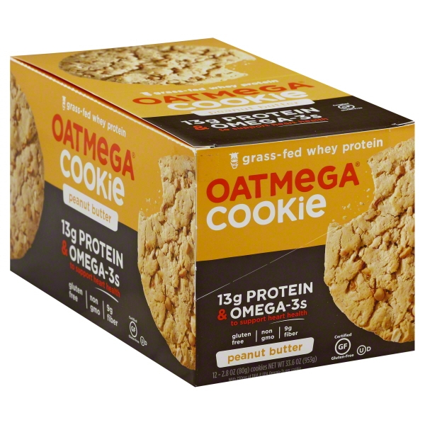 Oatmega Cookie Peanut Butter - 12 CT