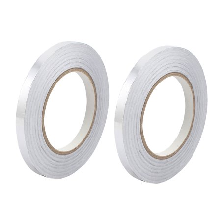 2pcs 10mm x 50M Aluminum Foil Tape HVAC Heat Shield Duct Sealing Self Adhesive