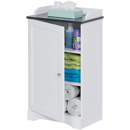 Best Choice Products Bathroom Floor Storage Cabinet w/ Versatile Door