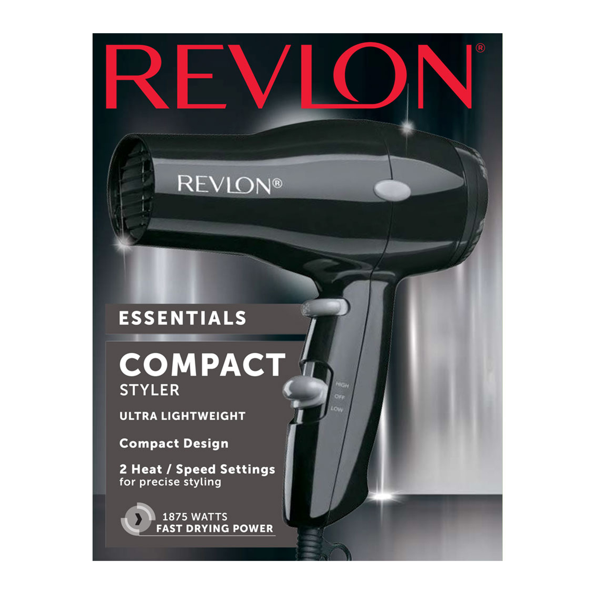 Revlon Essentials Compact Rvdr5034 1875w Hair Dryer Black Walmart Com