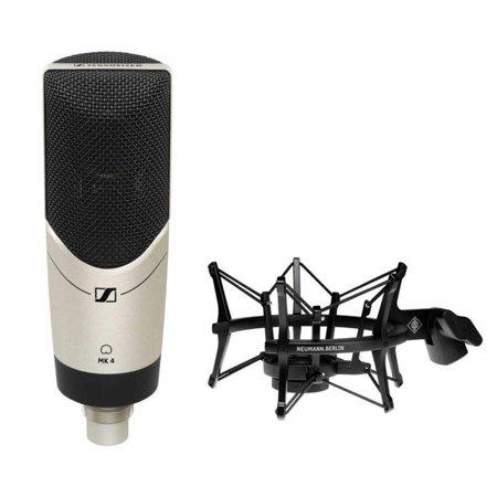 sennheiser mk4 large diaphragm studio condenser microphone with neumann ea 4 elastic suspension. Black Bedroom Furniture Sets. Home Design Ideas
