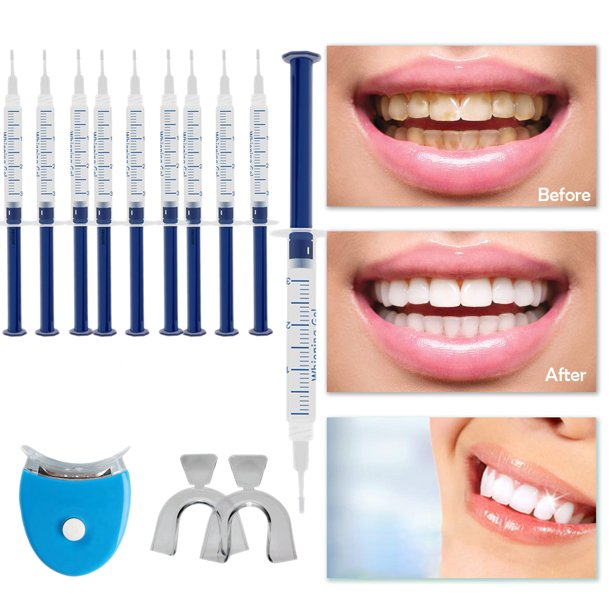 Gel Whitening Gel Kit Premium Teeth Whitening Kit 35 Carbamide Peroxide Comes With Led Light And Batteries 10 Gel Syringes 2 Tray Walmart Com Walmart Com