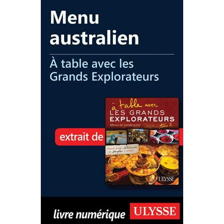 Menu australien - À table avec les Grands Explorateurs - eBook (Shops In Perth, Australien)