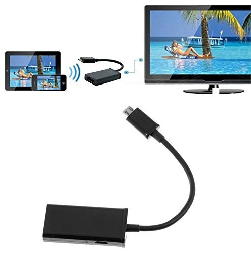HTC M9 PLUS MHL/Micro-USB to HDMI High Speed Adapter! Tru...