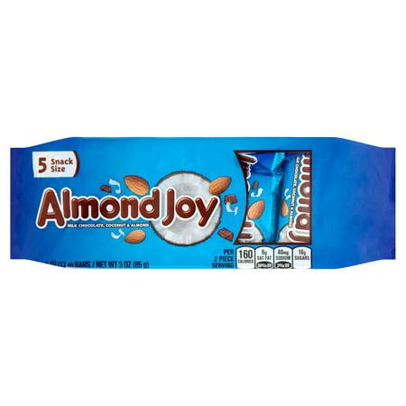 Image of Almond Joy Milk Chocolate, Coconut & Almond, .6 oz, 5 count