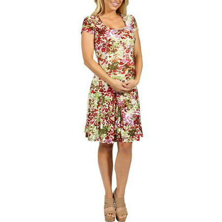 22d7df60c3a55 24/7 Comfort Apparel - Bella Sera Maternity Dress - Walmart.com