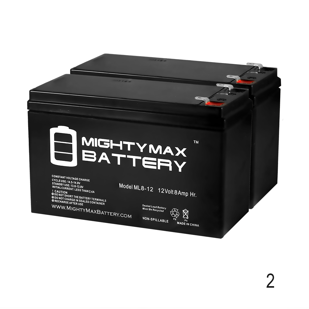 12V 8Ah Razor E300, E 300 13113640 Electric Scooter Battery - 2 Pack