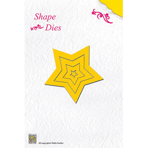 Nellies Choice Shape Die-5 Point Star Multi-Colored