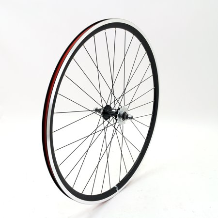 (EighthInch Amelia Track 700c Rear Wheel // Fixed Gear/Single Speed // Black)