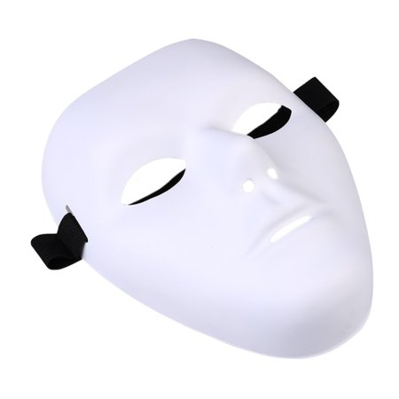 - Thick Blank Male The Phantom Mask Costume White Face Mask Paintable