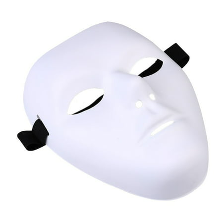 Thick Blank Male The Phantom Mask Costume White Face Mask Paintable - Printable Halloween Masks For Colouring