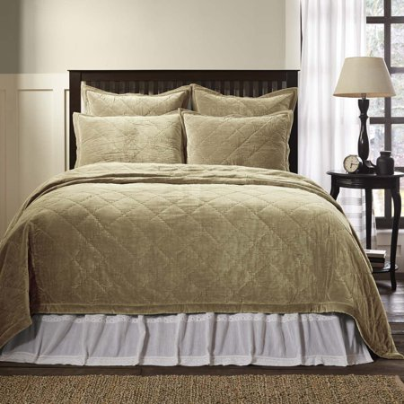 Taupe Grey Farmhouse Bedding Lydia Cotton Pre Washed
