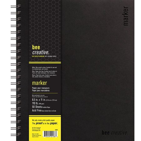 Bee 20005 Creative Marker Book  8 1 2  X 11   Ship From Usa  Brand Bee Paper Company