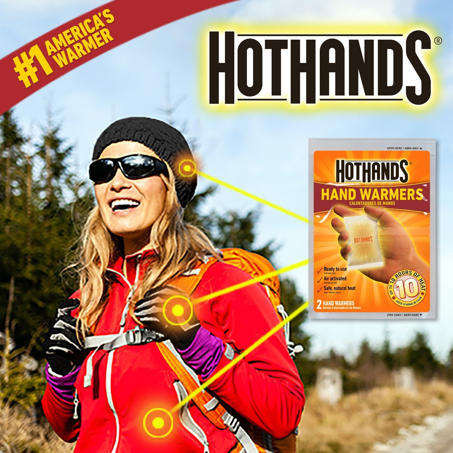 Long Lasting Safe Natural Odorless Air Activated Warmers Up to 10 Hours of Heat HotHands Hand Warmers 10 Pair Value Pack
