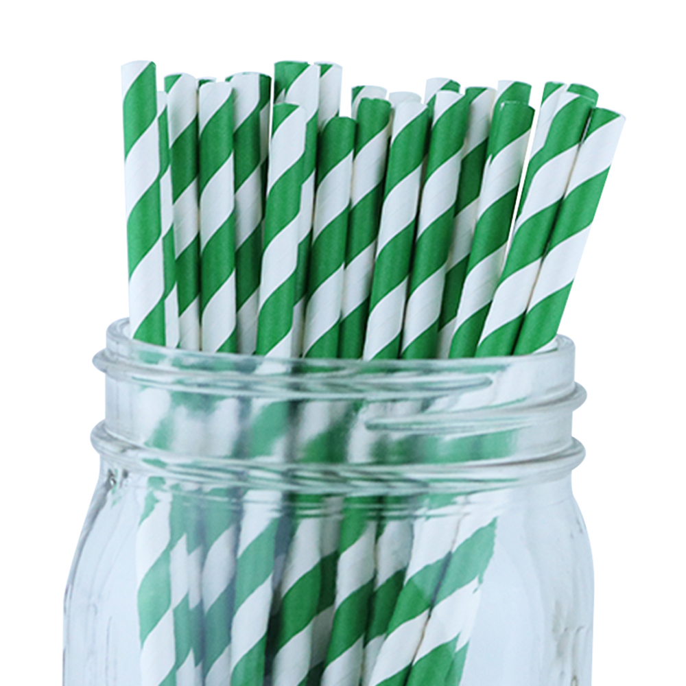 Just Artifacts Decorative Paper Straws (100pcs, Forest Green)