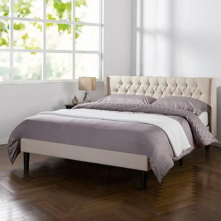 Zinus Desmond Upholstered Traditional Tufted Wingback Platform Bed, Multiple Sizes