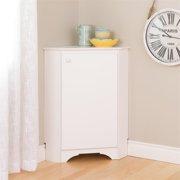 Atlin Designs Corner Storage Cabinet in Elite White