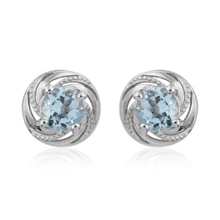 925 Sterling Silver Platinum Plated Round Garnet Silver Stud Earrings for Women Cttw 1.6 Jewelry Gift Comfort Fit Platinum Earrings