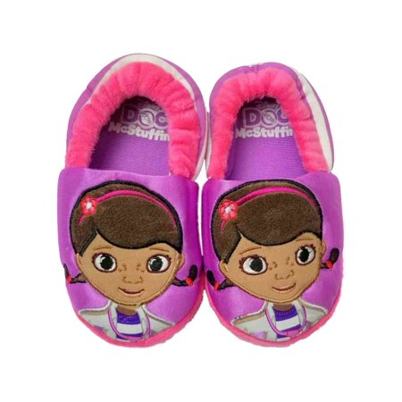 Disney Doc McStuffins Purple Toddler Girls Slippers Loafer House Shoes](Disney Slippers)