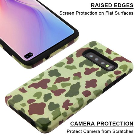 Samsung Galaxy S10 Plus Case, by Insten Duck Camo Dual Layer [Shock Absorbing] Hybrid Hard Plastic/Soft TPU Rubber Case Cover For Samsung Galaxy S10 Plus, Green - image 2 of 5