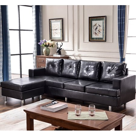 Harper & Bright Designs Sectional Sofa Set with Reversible Chaise ...