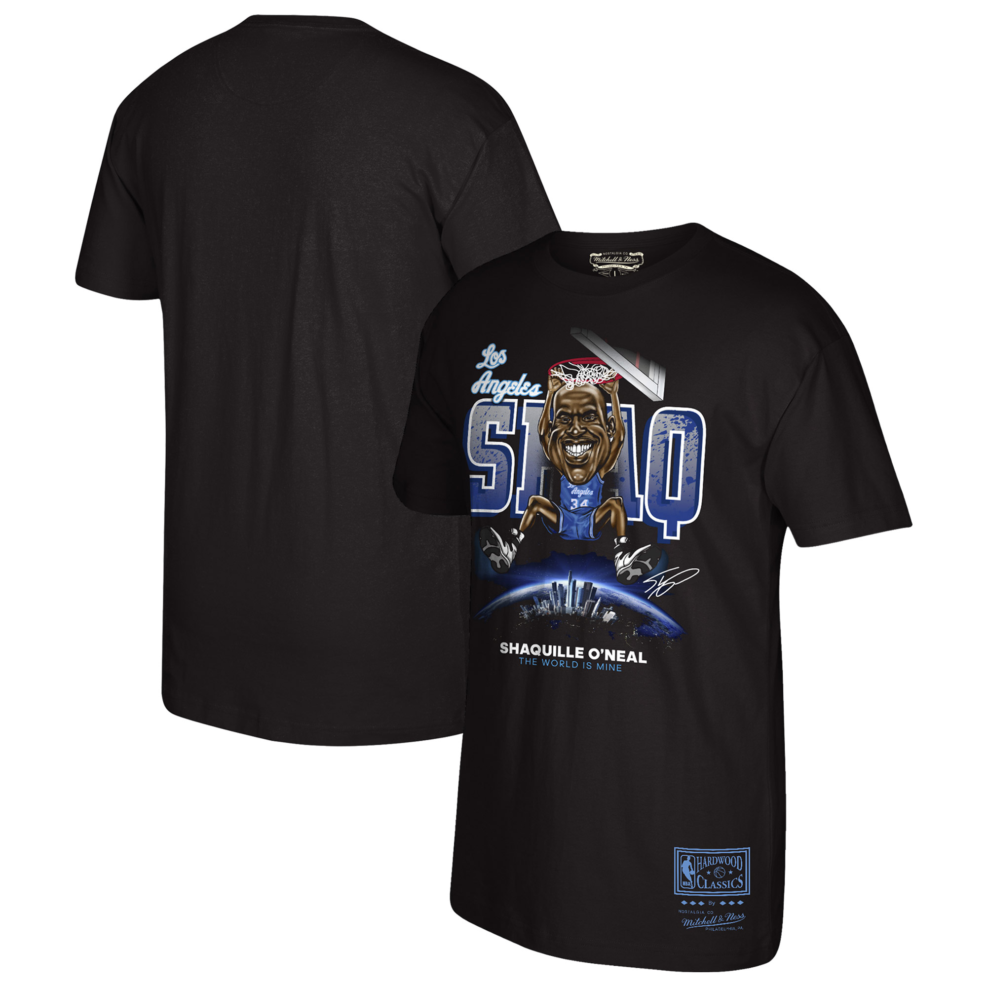 Shaquille O'Neal Los Angeles Lakers Mitchell & Ness Hardwood Classics 90's Collection T-Shirt - Black