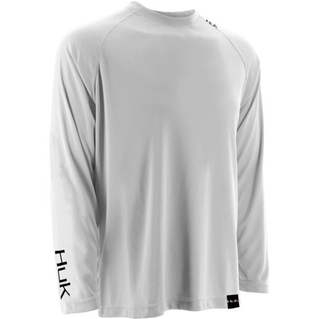 Raglan Performance Tee - Huk Men's LoPro Raglan White XX-Large Performance Long Sleeve Shirt