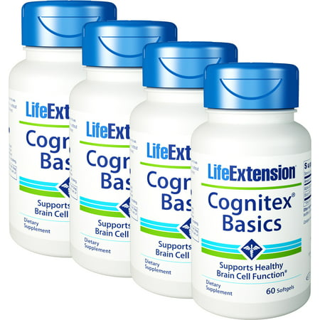 Life Extension Cognitex Basics 60 Softgels 4 Bottles