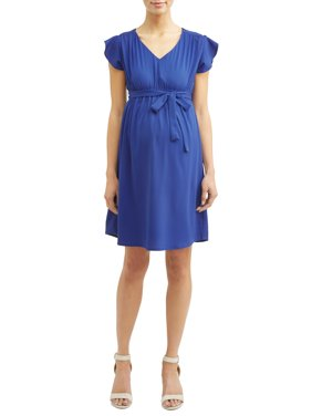 7a9470e5ce Product Image Maternity Empire Waist Ruffle Sleeves Dress - Available in  Plus Sizes