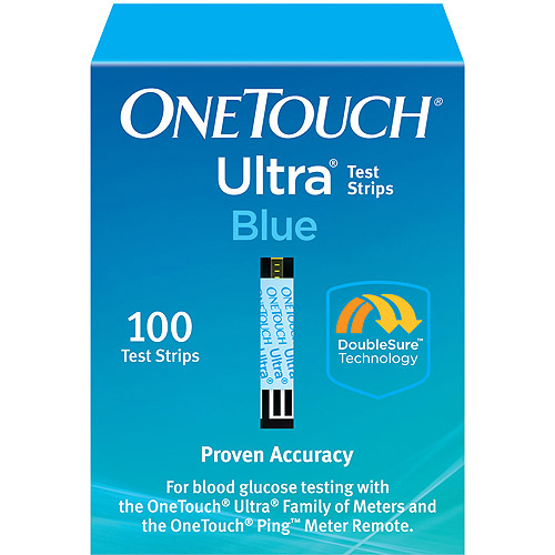 OneTouch Ultra Blue Blood Glucose Test Strips, 100 Ct